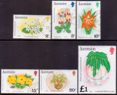 1981 ASCENSION SG #283B-95B Compl.set Used Flowers (imprint 1982) - Ascension