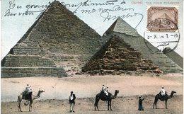 41679 Egypt,  Maximum 1910 The Pyramids , Archeology,  (see 2 Scan) - Archéologie