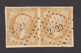 FRANCE PAIRE N°13A - 1853-1860 Napoléon III