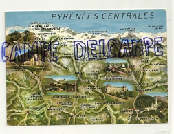 Carte Géographique Des Pyrénées Centrales. Cie Des Arts Photomécaniques. Elnacap - Cartes Géographiques