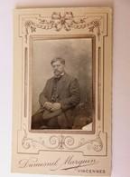 216 - C.d V. Début 19ème - Homme Moustache - Casquette - Duménil Marquin - Photos