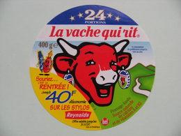 """Etiquette Fromage Fondu - Vache Qui Rit - Bel 24 Portions Pub Stylos Reynolds """"réduction 40f""""   A Voir ! - Fromage"""