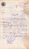 Romania, 1898, Vintage Police Commissariat Certificate - Revenue / Fiscal Stamp / Cinderella - Fiscaux