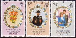 1981 ASCENSION SG #302-04 Compl.set Used Royal Wedding - Ascension