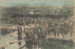 CONGO BELGE.  -  N.44.  -  Marché à Bolobo.  (scan Verso) (pli Peu Visible Au Milieu !) - Autres
