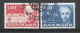 Danmark / Dänemark 1980  Mi.Nr. 699 / 700 ,  EUROPA CEPT - Bedeutende Persönlichkeiten - Gestempelt / Used / (o) - Denmark