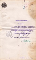 Romania, 1899, Bucuresti City Hall Certificate - Revenue / Fiscal Stamp / Cinderella - Fiscaux