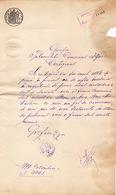 Romania, 1899, Vintage Notary Certificate - Revenue / Fiscal Stamp / Cinderella - Fiscaux