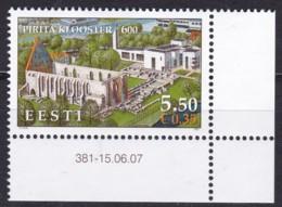 2007, EESTI,  588, 600 Jahre Brigittenkloster Pirita.  MNH ** - Estonia