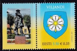 2007, EESTI, 597, Stadtwappen Von Viljandi (Fellin). MNH ** - Estonia