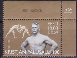 EESTII, 2008, 607, 100. Geburtstag Von Kristjan Palusalu. MNH ** - Estonia