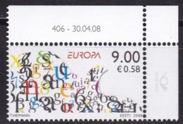 EESTII, 2008, 615, Europa: Der Brief.  MNH ** - Estonia