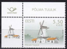 2008, EESTI, 621, Windmühle Polma.  MNH ** - Estonia