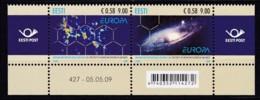 2009, EESTI, 637/38,, Europa: Astronomie. MNH ** - Estonia