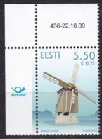 2009, EESTI, 647, Windmühle In Angla.  MNH ** - Estonia