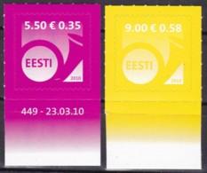 EESTII, 2010, 660+70, Freimarke: Posthorn (Jahreszahl 2010). MNH ** - Estonia