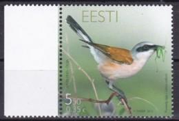 EESTII, 2010, 666, Vogel Des Jahres: Neuntöter. MNH ** - Estonia