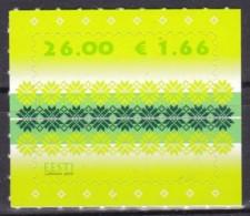 EESTII, 2010, 668, Freimarke: Strickmuster. MNH ** - Estonia