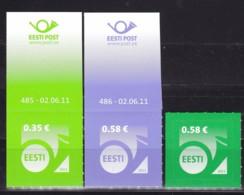 EESTII, 2011, 700/01+05, Freimarke: Posthorn. MNH ** - Estonia