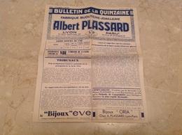 Lyon Paris Publicité 1932 Bijouterie Plassard Montres Besançon - France