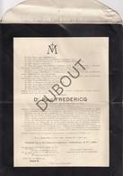 Doodsbrief Dr. Paul Fredericq °1850 Gent †1920 Gent Professor Universiteit Gent, Historian And Political Activist (L65) - Obituary Notices