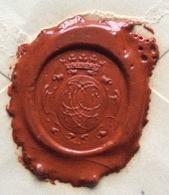 MASERA 6/7/91 SU BUSTA DA PAVIA  DEL 6/7/91 CON SPL4ENDIDO SIGILLO CON STEMMA CORONATO - 1900-44 Vittorio Emanuele III