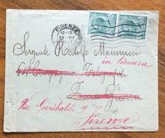 """GRANDE GUERRA  BUSTA  Del 29/12/17 GIUNTA AL FRONTE RIMANDATA ADF ALTRO INDIRIZZO PERCHE' IL SOLDATO ERA  """"in Liucenza"""" - 1900-44 Vittorio Emanuele III"""