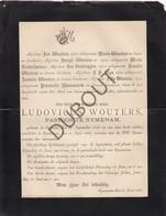 Doodsbrief Ludovicus Wouters °1839 Tremelo †1890 Rijmenam - Pastoor Rijmenam (L66) - Obituary Notices