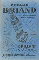 Buvard Ancien COGNAC BRIAND BOUTILLIER DELAURIERE SUCCESSEURS - Liqueur & Bière