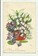 BUON ONOMASTICO 1938  VIAGGIATA FP - Autres