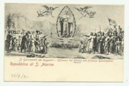 REPUBBLICA DI S.MARINO - IL GIURAMENTO DEI REGGENTI   VIAGGIATA FP - San Marino