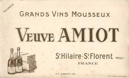 Buvard Ancien VINS MOUSSEUX VEUVE AMIOT SAINT HILAIRE - SAINT FLORENT - Liqueur & Bière
