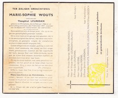 DP Marie S. Wouts ° Wijtschate Heuvelland 1866 † 1947 X Th. Leuridan / Roose Louage VanHolme Maerten DeCock - Images Religieuses