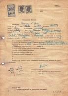 Romania, 1945, Cluj University Application Form - Revenue / Fiscal Stamps / Cinderellas - Fiscaux