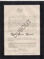 Doodsbrief Baron Charles Whettnall °1811 Londen †1882 Melveren/ Sint-Truiden Kasteel Nieuwenhoven - Adel (L67) - Overlijden