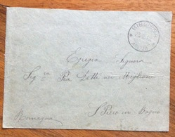 S.PIERO IN BAGNO (FIRENZE) + BIBBIENA AREZZO SU BUSTA  CON MICHETTI 15 C. DEL 24/2/12 - 1900-44 Vittorio Emanuele III