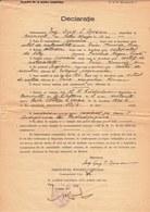 Romania, 1945, Bucuresti Police Prefecture Statement - Revenue / Fiscal Stamps / Cinderellas - Fiscaux
