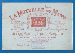 """BUVARD - """"LA MUTUELLE DU MANS"""" -  ASSURANCE INCENDIE - AGENCE STE-MAURE DE TOURAINE RENÉ MOURY - Banque & Assurance"""