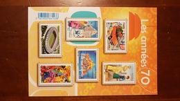 "BLOC FEUILLET F 5056 ""LES ANNEES 70"" FRANCE 2016 - Stamps"