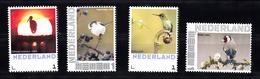 Nederland 2013 Persoonlijke, Thema Vogels, Bird: Ooievaar, Staartmees, Kolibrie, Putter, Stork, Tail Tit, Hummingbird, - Period 2013-... (Willem-Alexander)