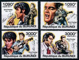BURUNDI 2011 - Elvis Presley - 4 Val Neufs // Mnh // CV 18.00 Euros - Elvis Presley