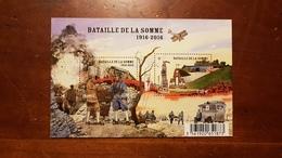 """BLOC FEUILLET F 5075 """"CENTENAIRE DE LA BATAILLE DE LA SOMME"""" FRANCE 2016 - Stamps"""