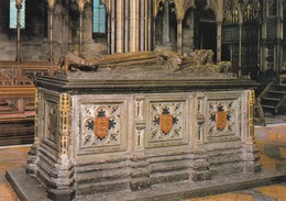 Postcard Worcester Cathedral Tomb Of King John Oldest Royal Effigy In Britain My Ref  B23364 - Worcestershire