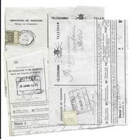 3 Telegrammes  POTTES  22 JUIN 1908 + Chem De Fer 1903 & 1920  (volledig Doc.complet ) - Stamped Stationery
