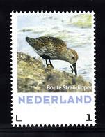Nederland 2018 Persoonlijke, Thema Vogels, Bird: Bonte Strandloper, Pied Sandpiper - Period 2013-... (Willem-Alexander)