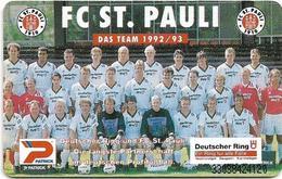 Germany - Football Team FC St. Pauli - O 0645 - 03.93, 6DM, 7.000ex, Used - O-Series : Séries Client