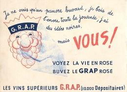 Buvard Ancien GRAP VINS SUPERIEURS - Liqueur & Bière