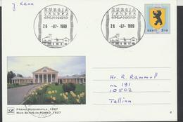 58-234 Estonia Pärnu Postal Stationery Postcard Kurgja Vändra Post 26.07.1999 From  Post Arrival Postmark - Estonia