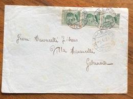 AGLIANA S.PIETRO (25-2) Annullo Frazionato SU STRISCIA DI TRE DEL 20 C. Verde MICHETTI PER GALEIANA DEL 3/6/28 - 1900-44 Vittorio Emanuele III