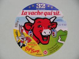 """Etiquette Fromage Fondu - Vache Qui Rit - Bel 32 Portions Pub Bugs Bunny """"Magicien""""   A Voir ! - Fromage"""